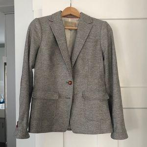 Banana Republic gray tweed blazer